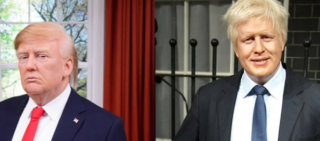 Madame tussauds: DONALD J. TRUMP e BORIS JOHNSON