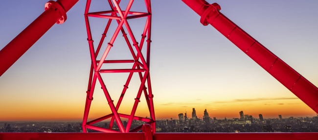 Visuale dalla Orbit Tower di Stratford